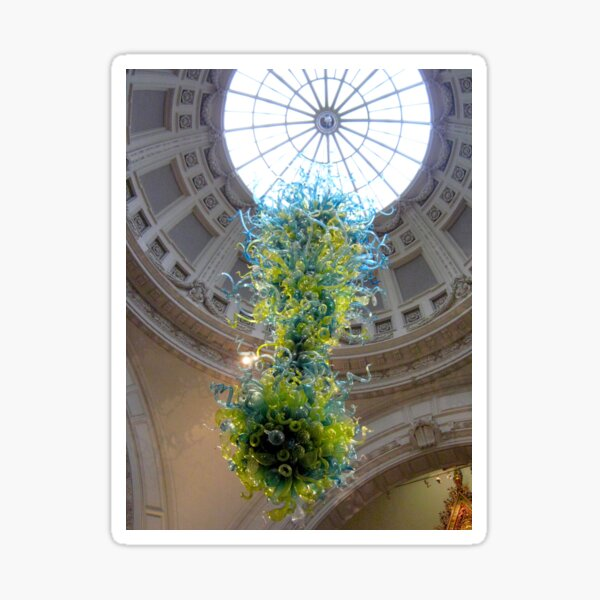 Victoria & Albert Museum Entrance Chandelier And Roof Dome  Sticker