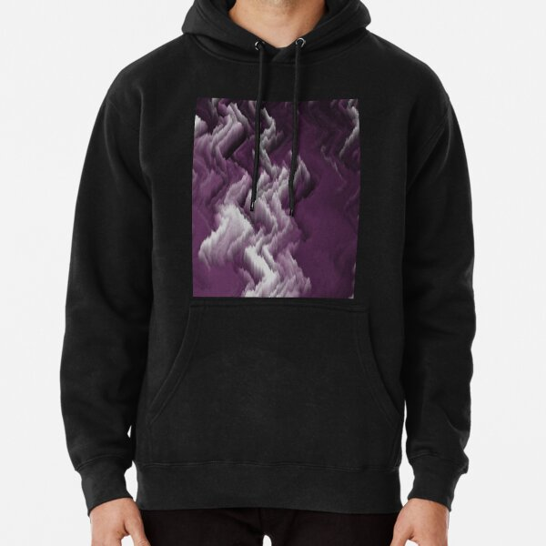 Purple, white, dark abstract. Pullover Hoodie