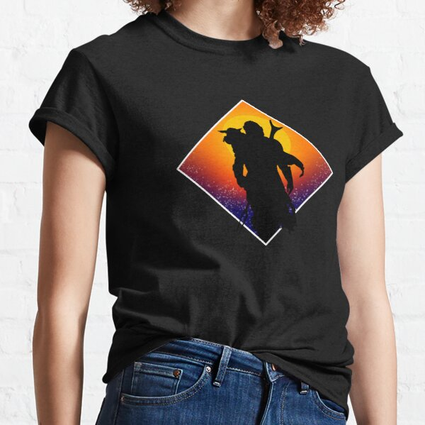 Crépuscule de silhouette T-shirt classique