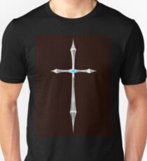 Cross-2 Red Leather T-Shirt