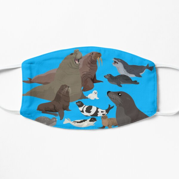 I Am Thankful For Pinnipeds Flat Mask