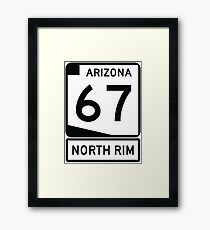 AZ 67 - The Road to the North Rim Framed Print