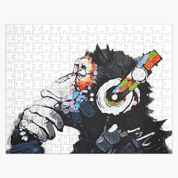 Banksy Funky Monkey DJ casque graffiti street art Puzzle