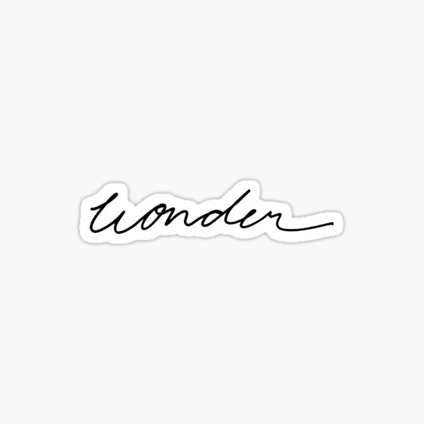 Shawn Mendes Wonder Sticker