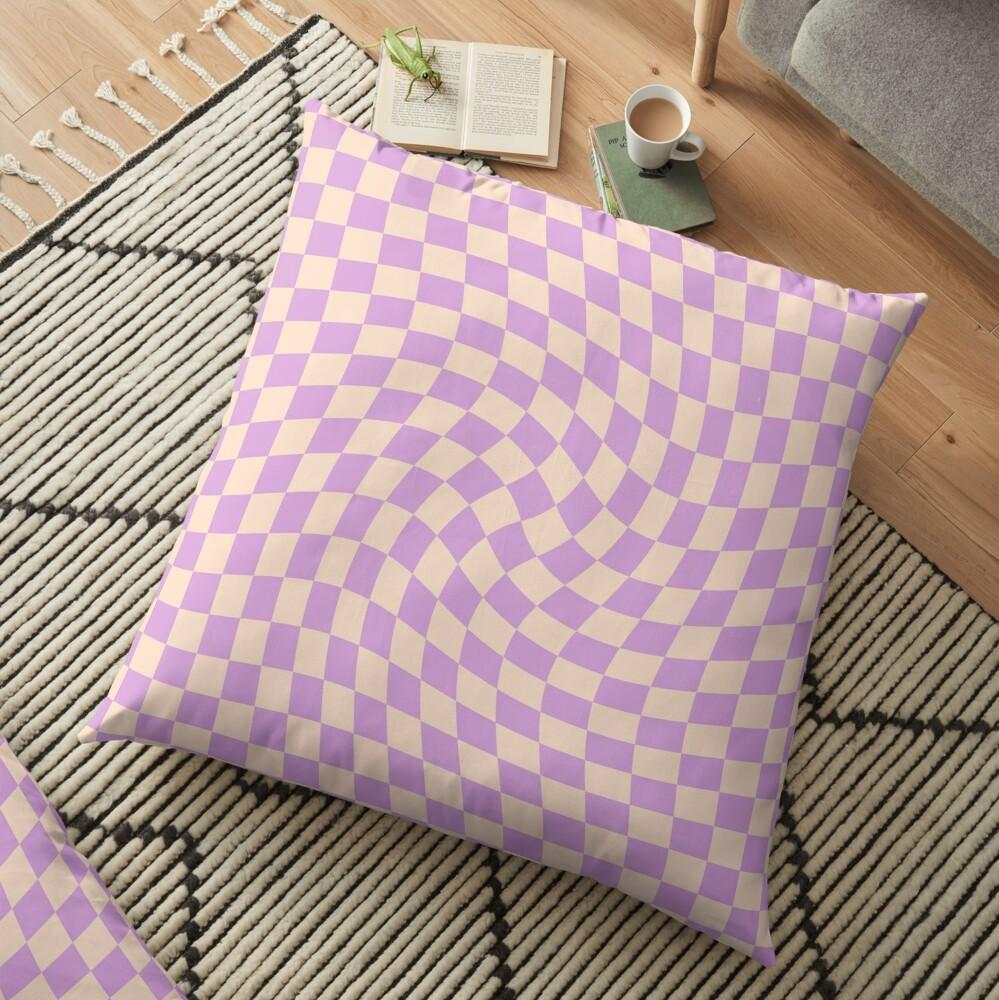 Check V - Lilac Twist Floor Pillow