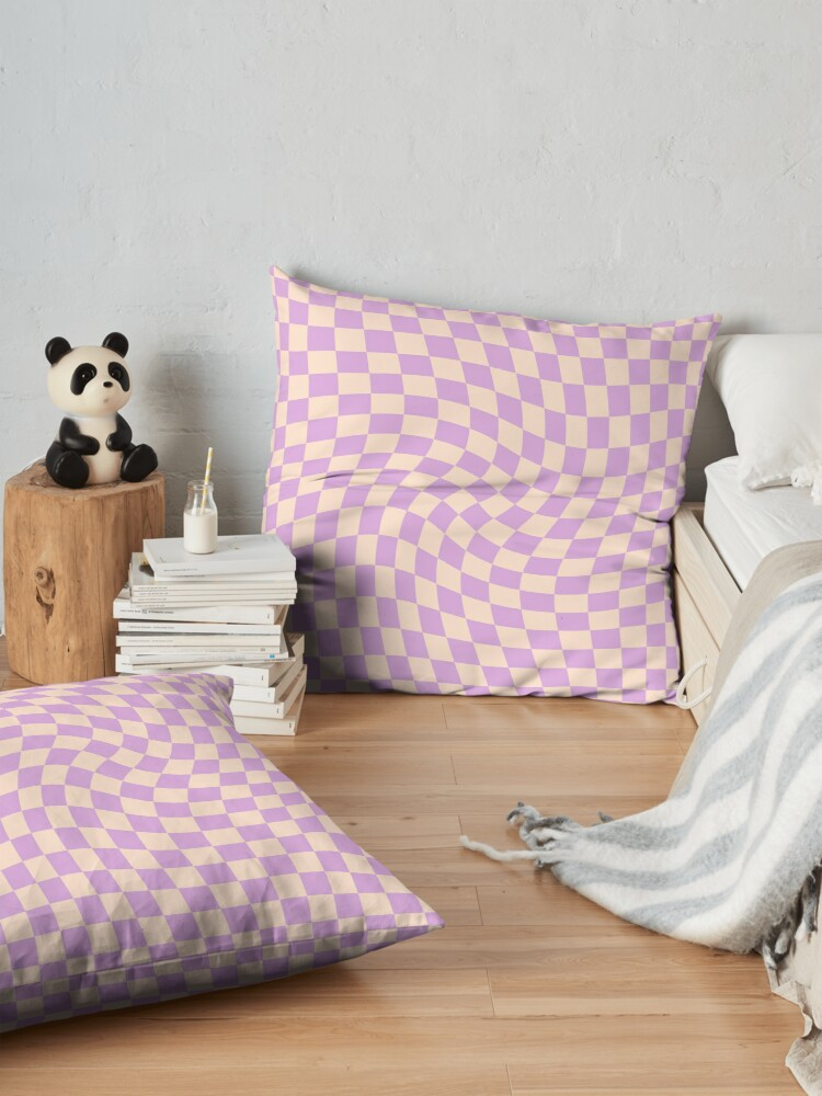 Alternate view of Check V - Lilac Twist Floor Pillow
