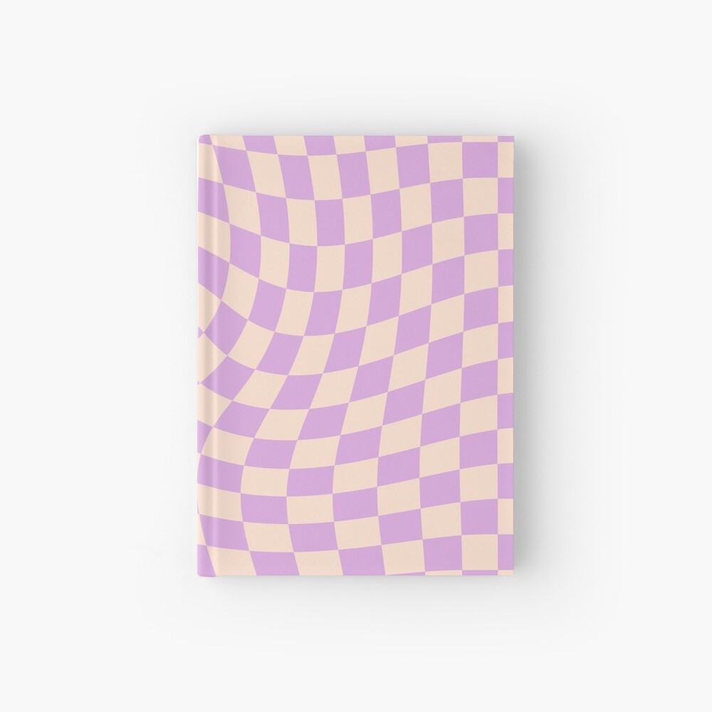 Check V - Lilac Twist Hardcover Journal