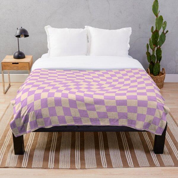 Check V - Lilac Twist Throw Blanket