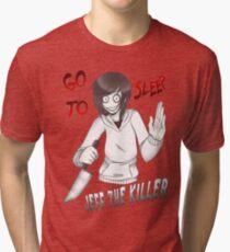 Jeff The Killer - Go To Sleep Tri-blend T-Shirt