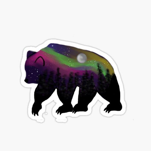 Northern Lights Bear Sticker