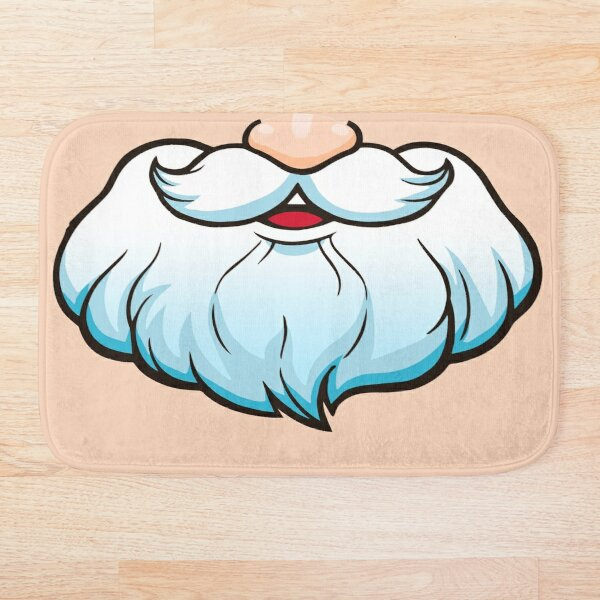 Xmask Beard Santa Claus Santa Claus Bath Mat