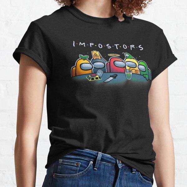 Crewmates IMPOSTORS / Among us - Friends TV Show Parody Camiseta clásica