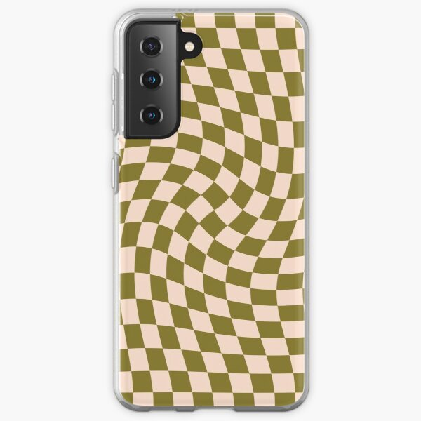Check VI - Green Moss Twist Samsung Galaxy Soft Case