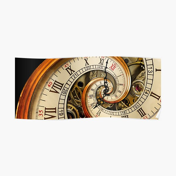 The Clock of the Spiral Whirlpool of Time. Poster