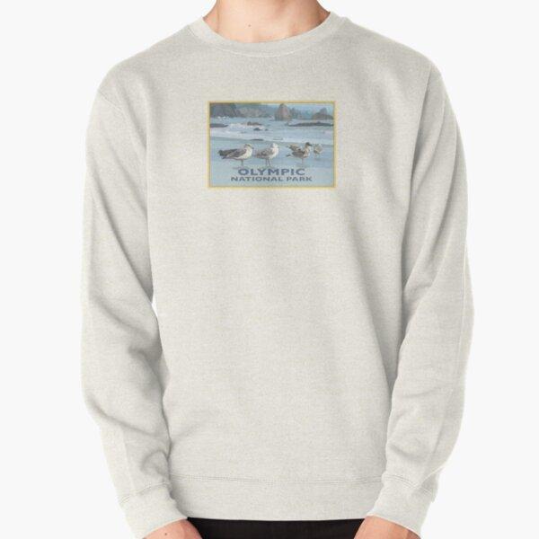 Olympic National Park Washington Coast Seagulls Pullover Sweatshirt