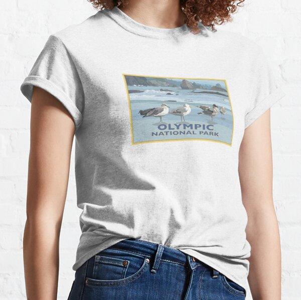 Olympic National Park Washington Coast Seagulls Classic T-Shirt