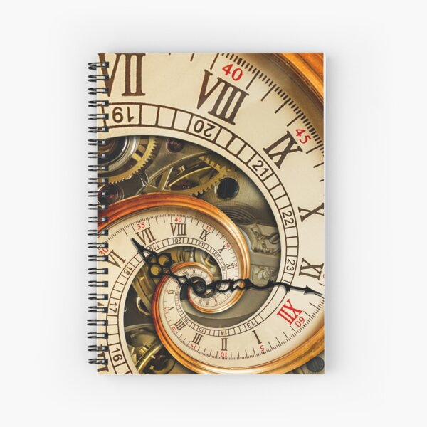 The Clock of the Spiral Whirlpool of Time. Spiral Notebook