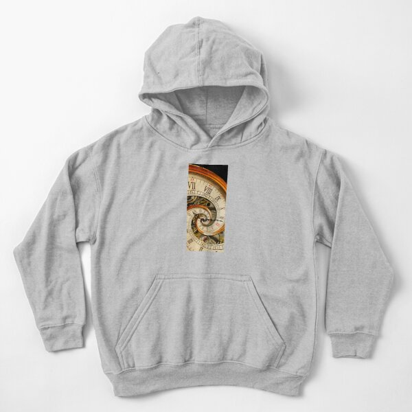 The Clock of the Spiral Whirlpool of Time. Kids Pullover Hoodie