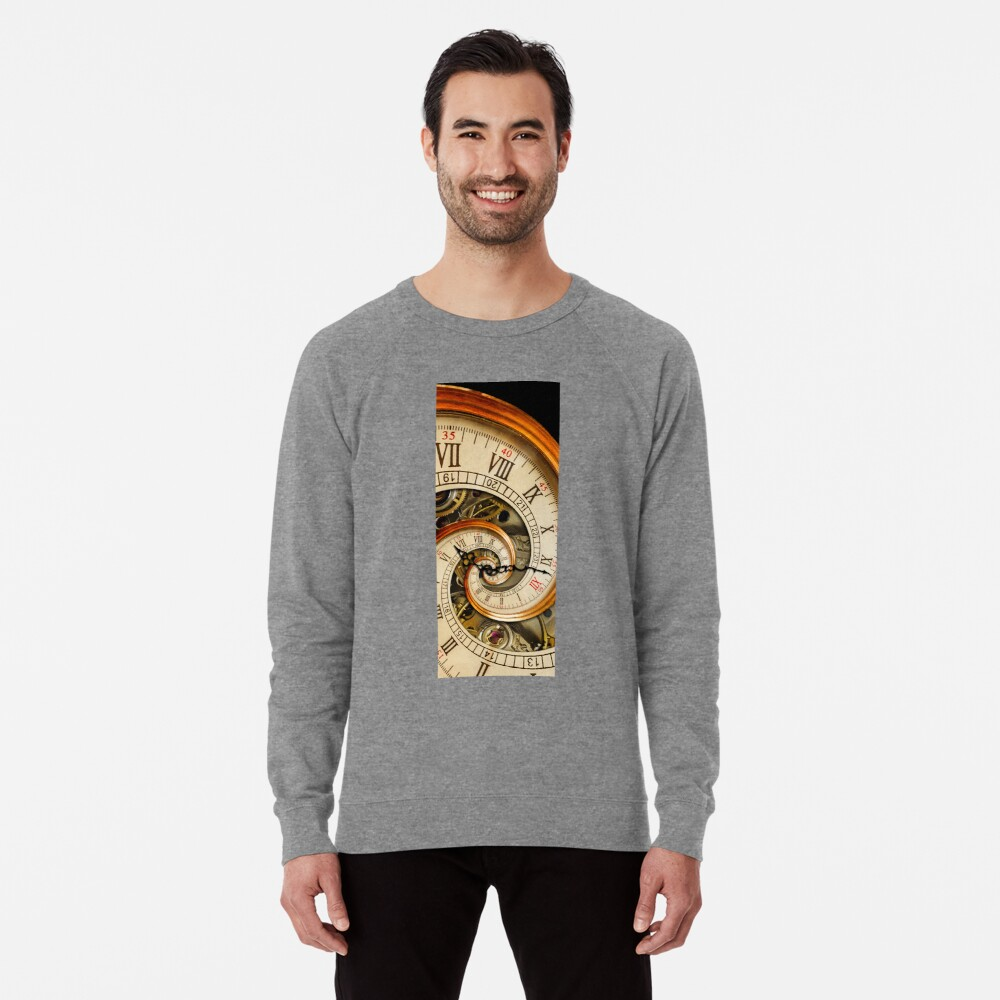 The Clock of the Spiral Whirlpool of Time. Lightweight Sweatshirt