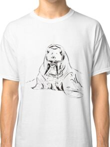 Playful Cute Adorable Fun Pencil Sketched Walrus Classic T-Shirt