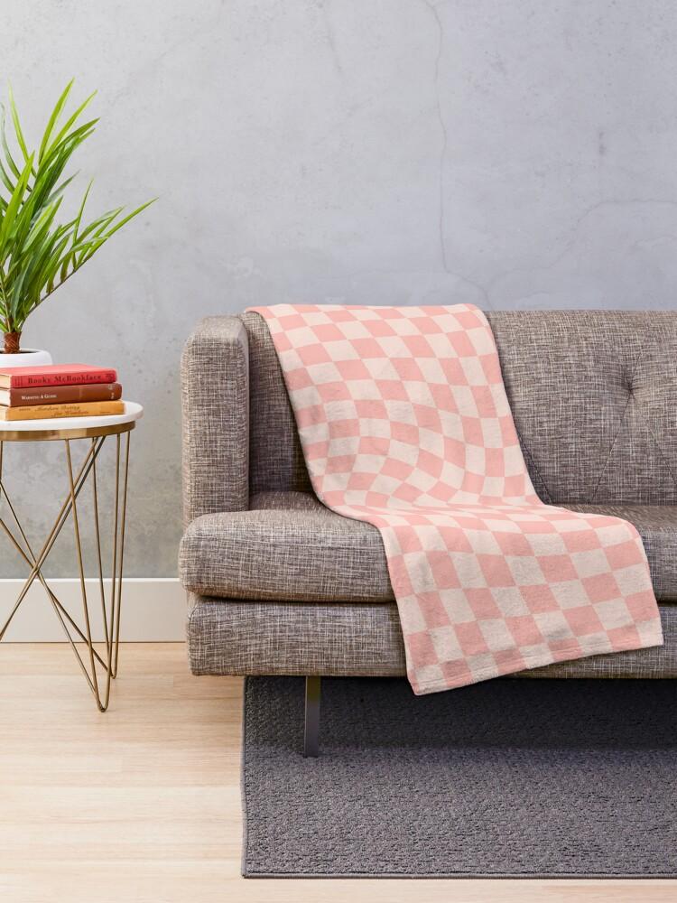 Alternate view of Check VII - Pink Twist Throw Blanket