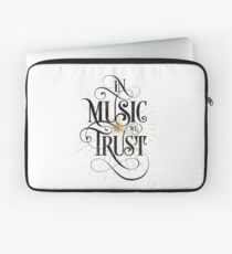 In Music We Trust {Distressed Version} Laptop Sleeve