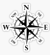 Nautical Compass Sticker