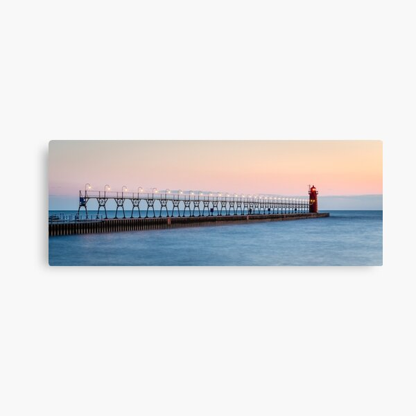The Lights Turn On in South Haven Canvas Print