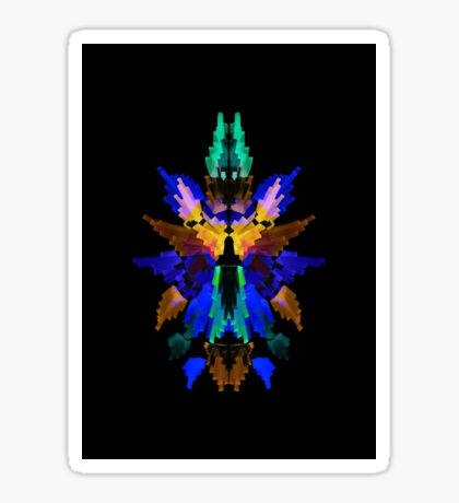 Neon Rorschach III Sticker