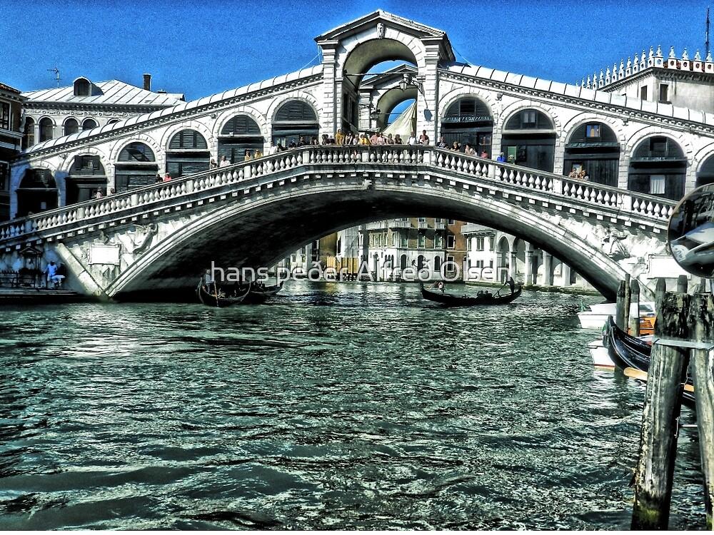 The Rialto Bridge, Venice by hans peðer alfreð olsen