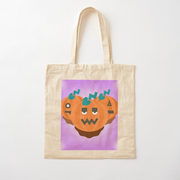 Jack-o-lantern trio Cotton Tote Bag
