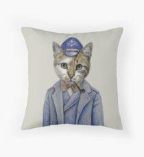 cat captain Throw Pillow