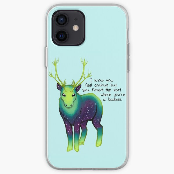 """""""The Part Where You're a Badass"""" Galaxy Caribou iPhone Soft Case"""
