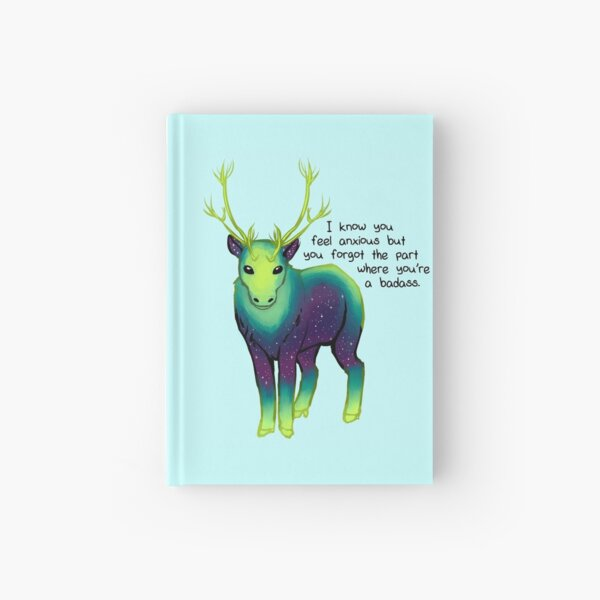 """""""The Part Where You're a Badass"""" Galaxy Caribou Hardcover Journal"""