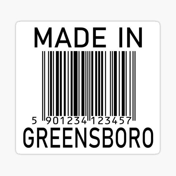 Made In Greensboro Sticker