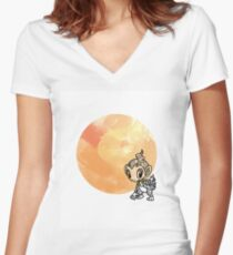 Chimchar Women's Fitted V-Neck T-Shirt