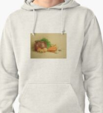 Still life with carrots and onions Pullover Hoodie