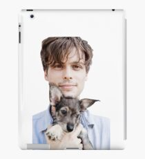Matthew Gray Gubler Holding Puppy iPad Case/Skin