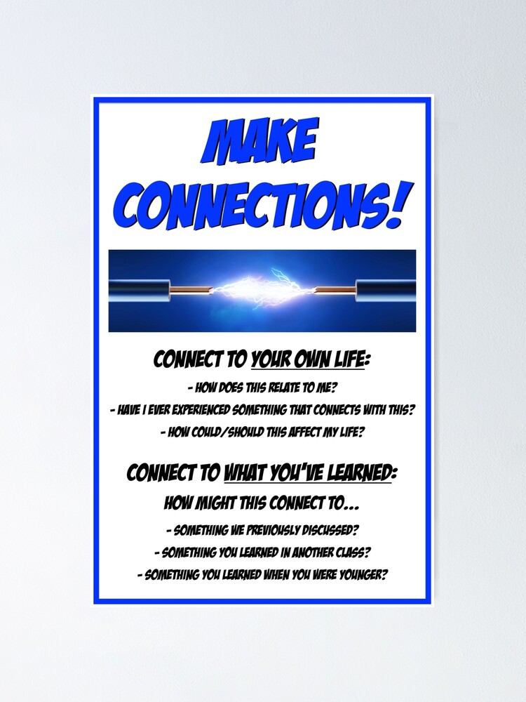 Alternate view of Make Connections! Poster