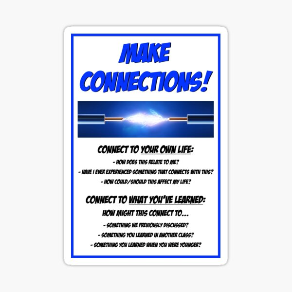 Make Connections! Sticker