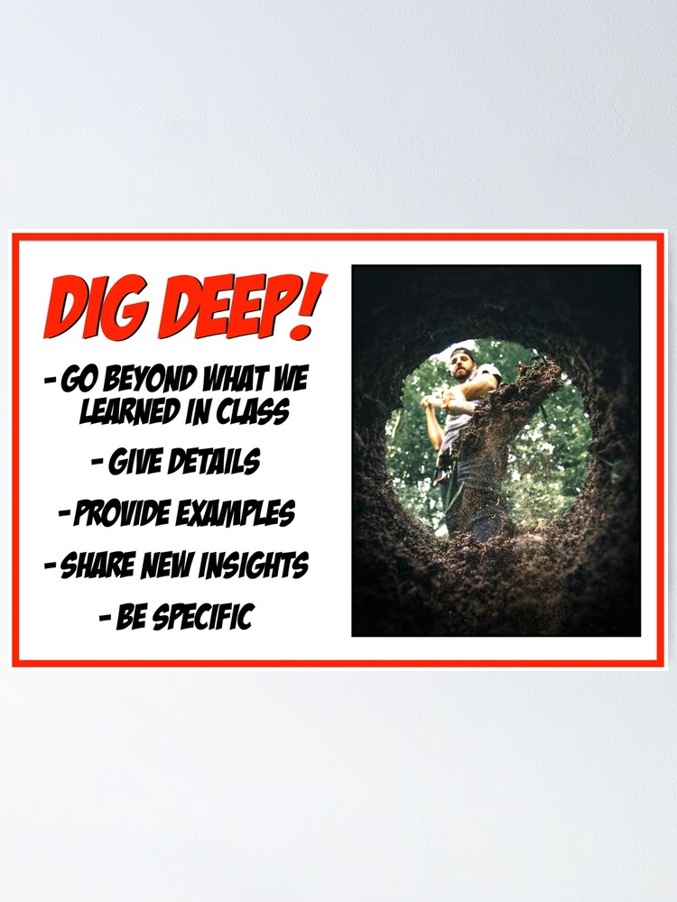 Alternate view of Dig Deep! Poster
