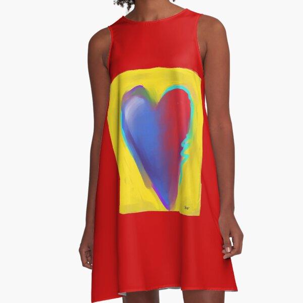 Painted Heart A-Line Dress