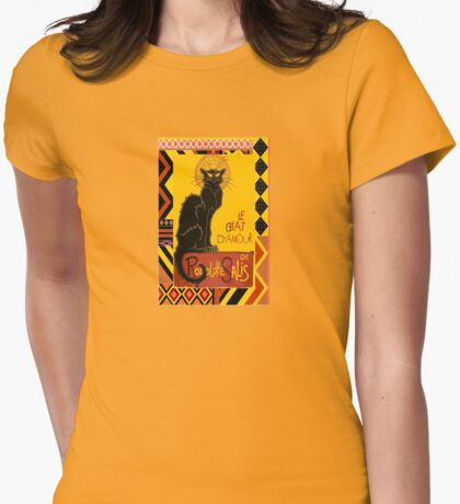 Le Chat D'Amour With Ethnic Coloured Border T-Shirt