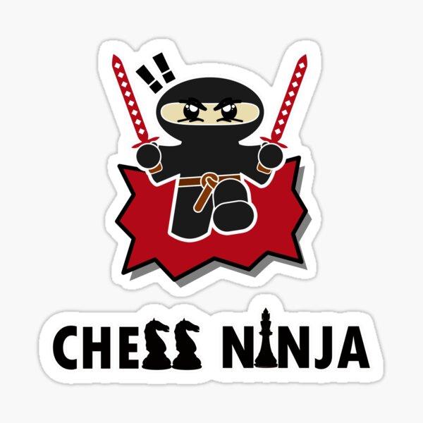 Chess Ninja T-Shirt Sticker