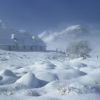 Blackrock Cottage in Winter. Glen Coe. Highlands of Scotland. by PhotosEcosse