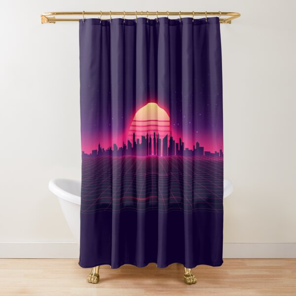 Retrowave Shower Curtain