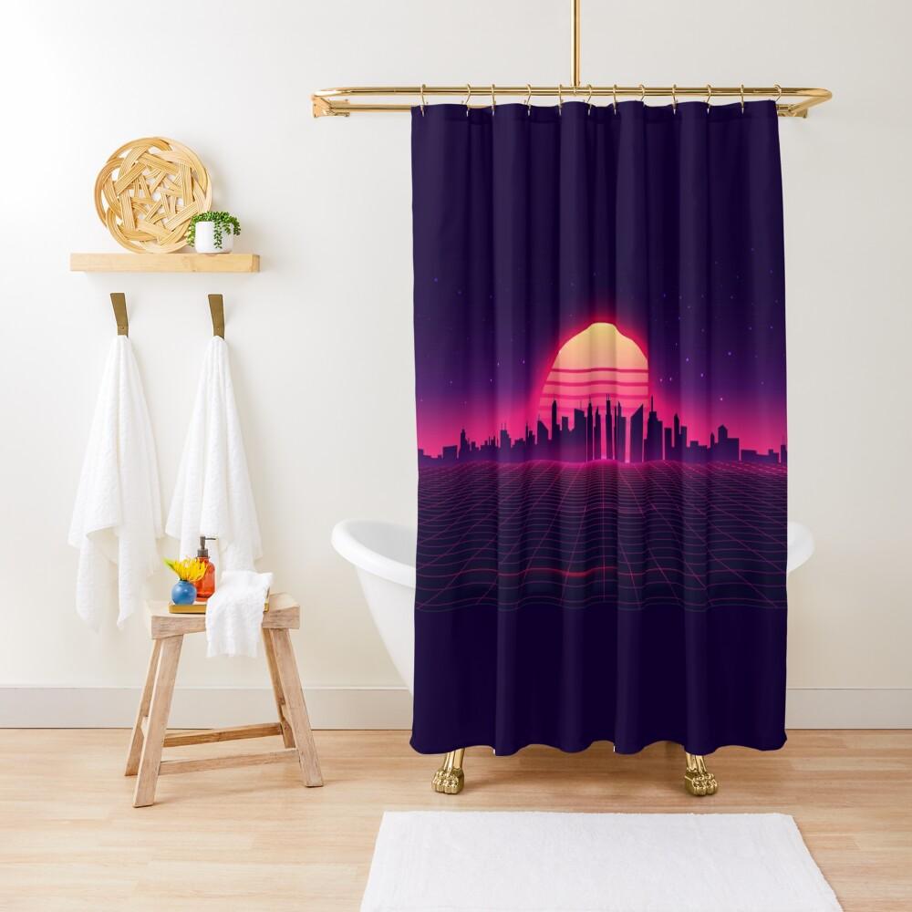 Retrowave Shower Curtain
