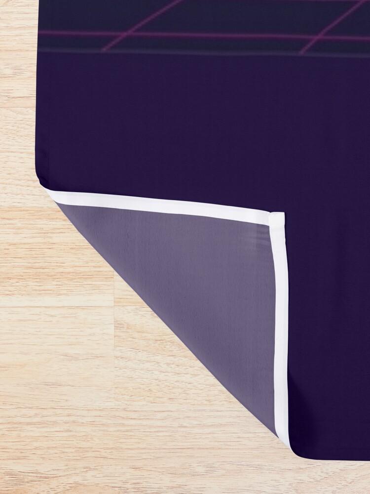 Alternate view of Retrowave Shower Curtain