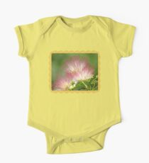 Mimosa ~  An Exotic Flowering Tree Short Sleeve Baby One-Piece