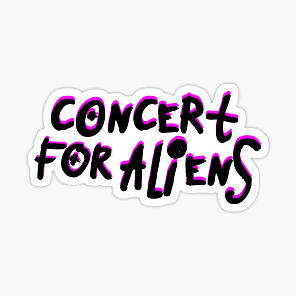 Concert For Aliens - Machine Gun Kelly Sticker